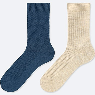 WOMEN HEATTECH SOCKS (2 PAIRS/PIQUE)