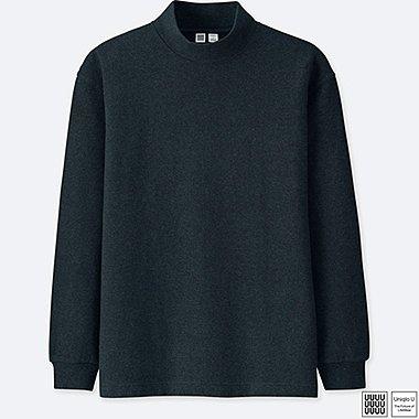 Herren U Oversized-Langarm-Shirt (Stehkragen)