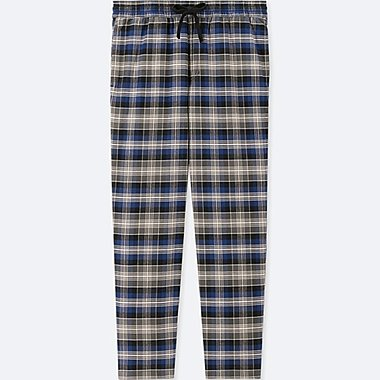 MEN FLANNEL EASY PANTS, BLUE, medium