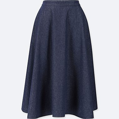 WOMEN COTTON HIGH WAISTED CIRCLE SKIRT
