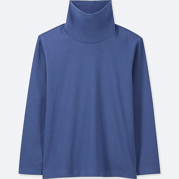 KIDS SOFT TOUCH TURTLENECK LONG-SLEEVE T-SHIRT, BLUE, large