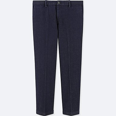 MEN EZY DENIM ANKLE LENGTH TROUSERS