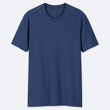 MEN PACKAGED DRY CREW NECK SHORT-SLEEVE T-SHIRT, BLUE, medium