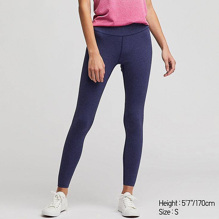 731744b77fa08 WOMEN AIRism SOFT LEGGINGS, BLUE, large