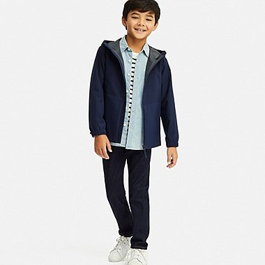 BOYS ULTRA STRETCH DENIM RELAXED PANTS, BLUE, medium