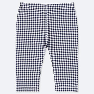 BABIES TODDLER CHECKED CROPPED LEGGINGS