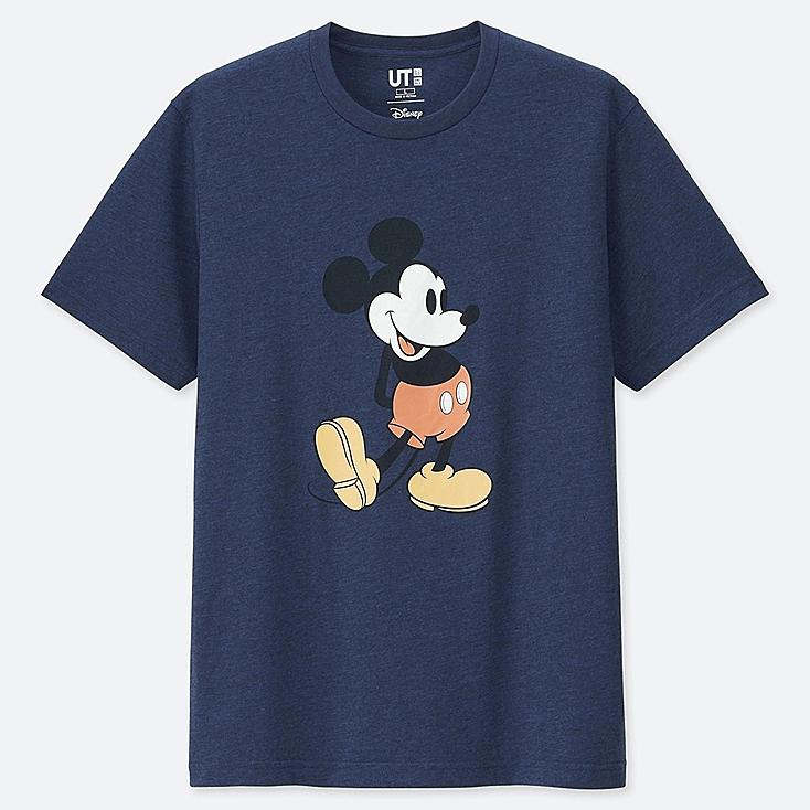 MICKEY STANDS UT (SHORT SLEEVE GRAPHIC T-SHIRT), BLUE, large