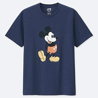 MEN MICKEY STANDS HEATHER GRAPHIC PRINT T-SHIRT