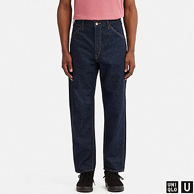 MEN U WIDE-FIT TAPERED JEANS, BLUE, medium