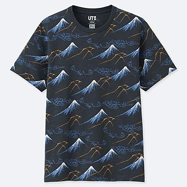 HOKUSAI BLUE SHORT-SLEEVE GRAPHIC T-SHIRT, BLUE, medium