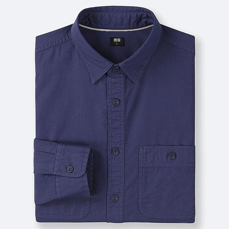 MEN WORK LONG-SLEEVE SHIRT (ONLINE EXCLUSIVE), BLUE, large