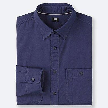 MEN WORK LONG-SLEEVE SHIRT (ONLINE EXCLUSIVE), BLUE, medium