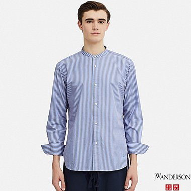MEN EXTRA FINE COTTON BROADCLOTH LONG-SLEEVE SHIRT (JW Anderson), BLUE, medium