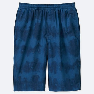 MEN MICKEY BLUE LIGHT COTTON EASY PRINT SHORTS