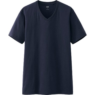MEN SUPIMA COTTON V NECK SHORT SLEEVE T-SHIRT, NAVY, medium
