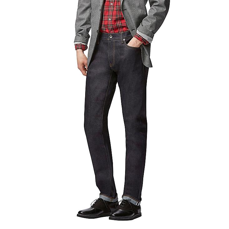 MEN STRETCH SELVEDGE SLIM FIT JEANS | UNIQLO US