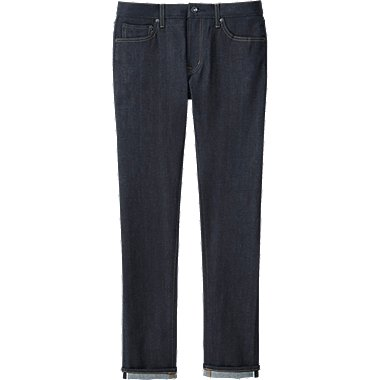 MEN STRETCH SELVEDGE SKINNY JEANS, NAVY, medium