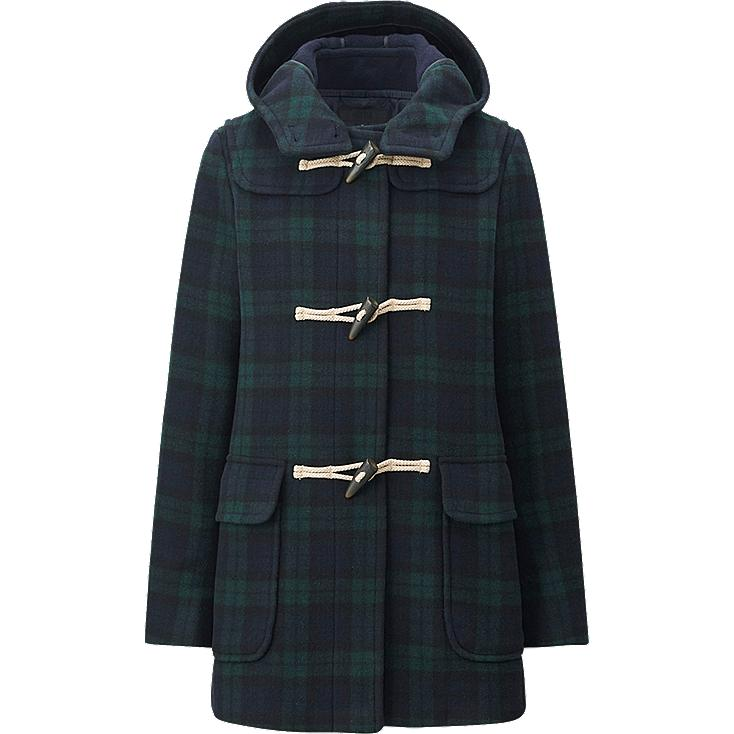 WOMEN Wool Blended Duffle Coat(Check) | UNIQLO UK
