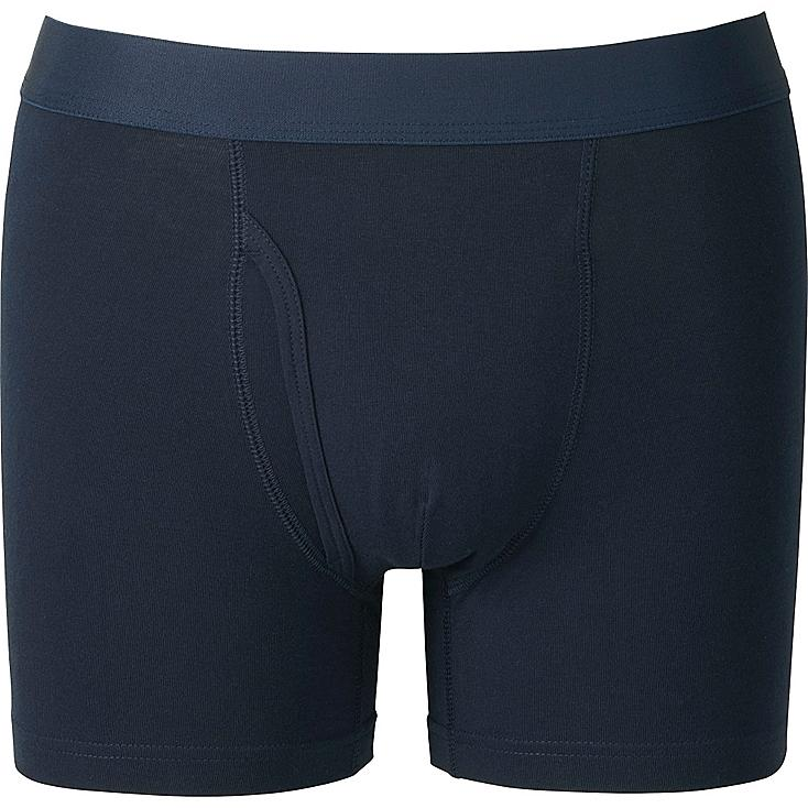 Men's Supima® Cotton Boxer Briefs, NAVY, large
