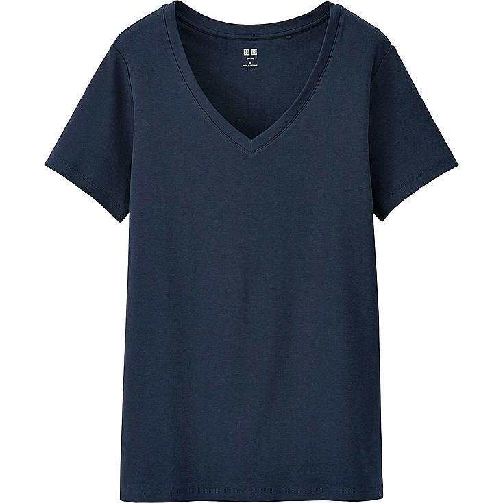 Women's Supima® Cotton V-Neck T-Shirt | UNIQLO US