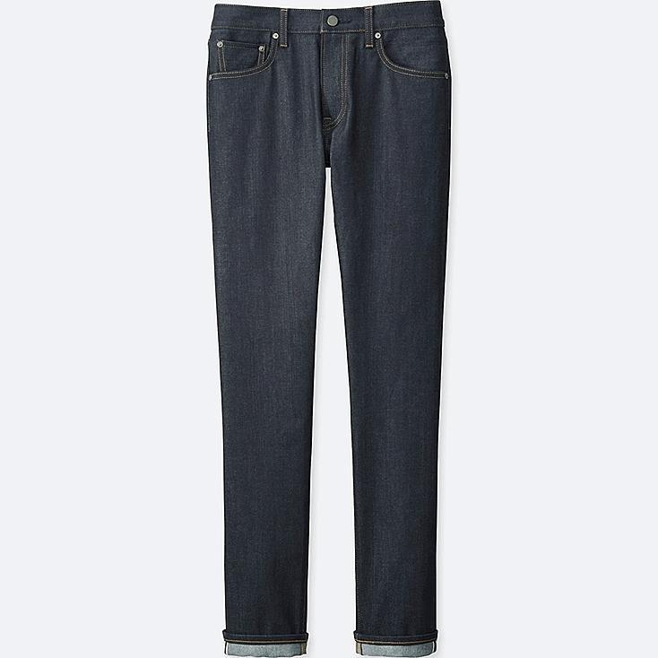 Men's Selvedge Slim-Fit Jeans, NAVY, large