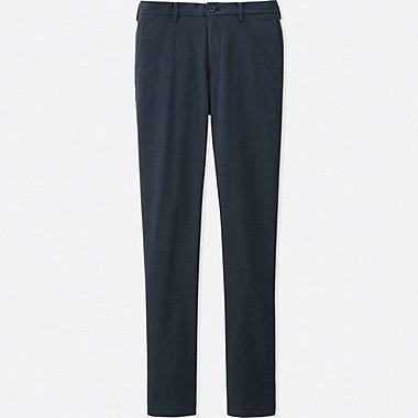 MEN SLIM FIT CHINO FLAT FRONT PANTS, NAVY, medium