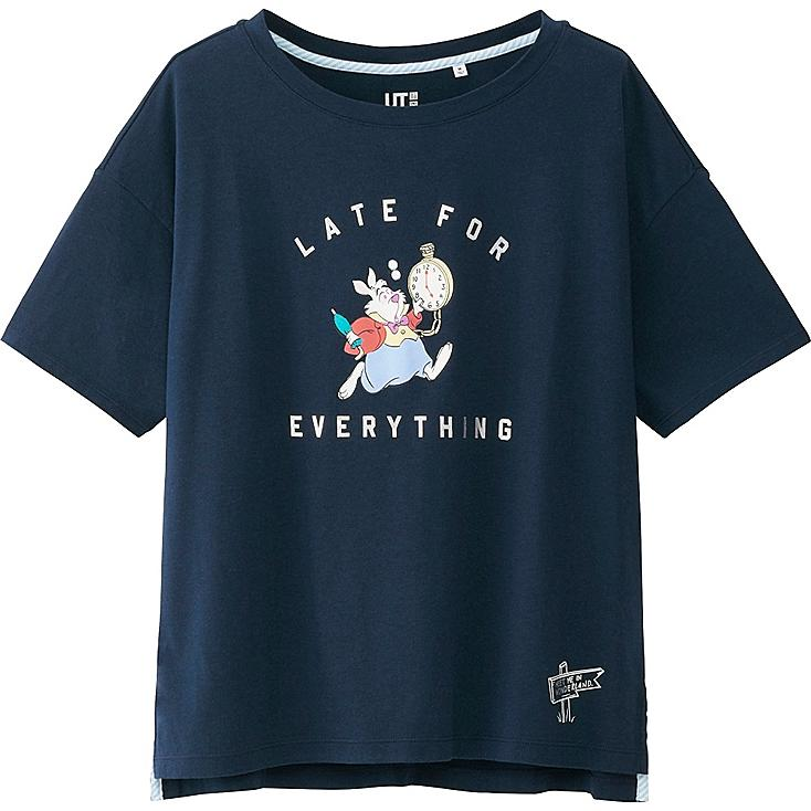 WOMEN DISNEY (AIW) SHORT SLEEVE GRAPHIC T-SHIRT, NAVY, large