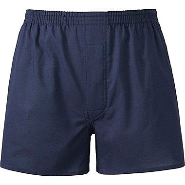Mens Woven Light Oxford Boxers, NAVY, medium