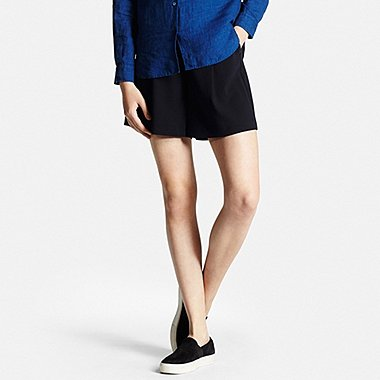 Womens Flared Shorts, NAVY, medium