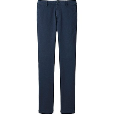 Mens Ultra Stretch Chino Flat Front Pants, NAVY, medium