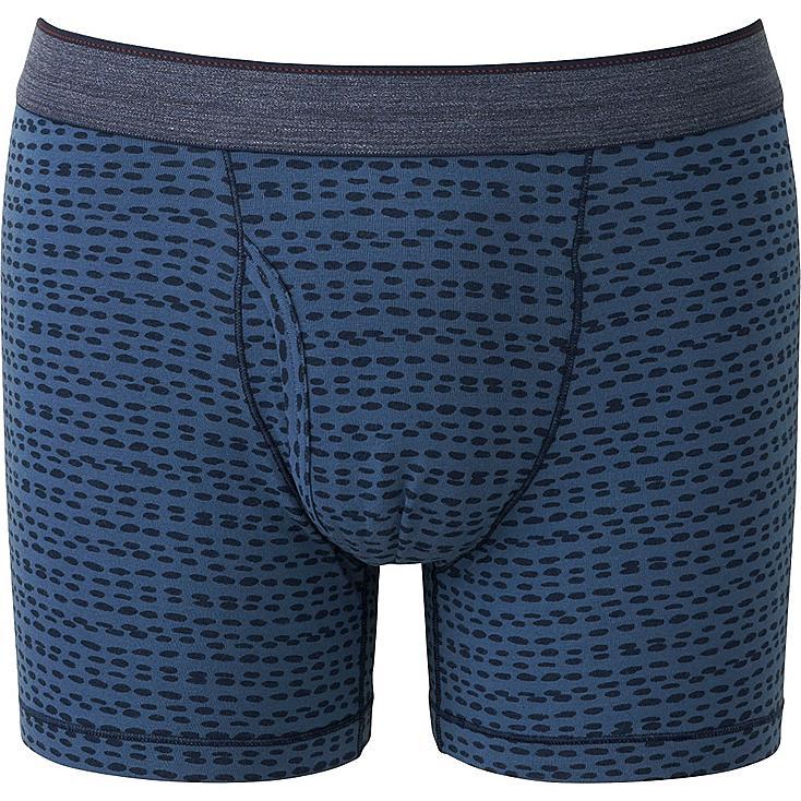 Men's Supima® Cotton Printed Boxer Briefs, NAVY, large