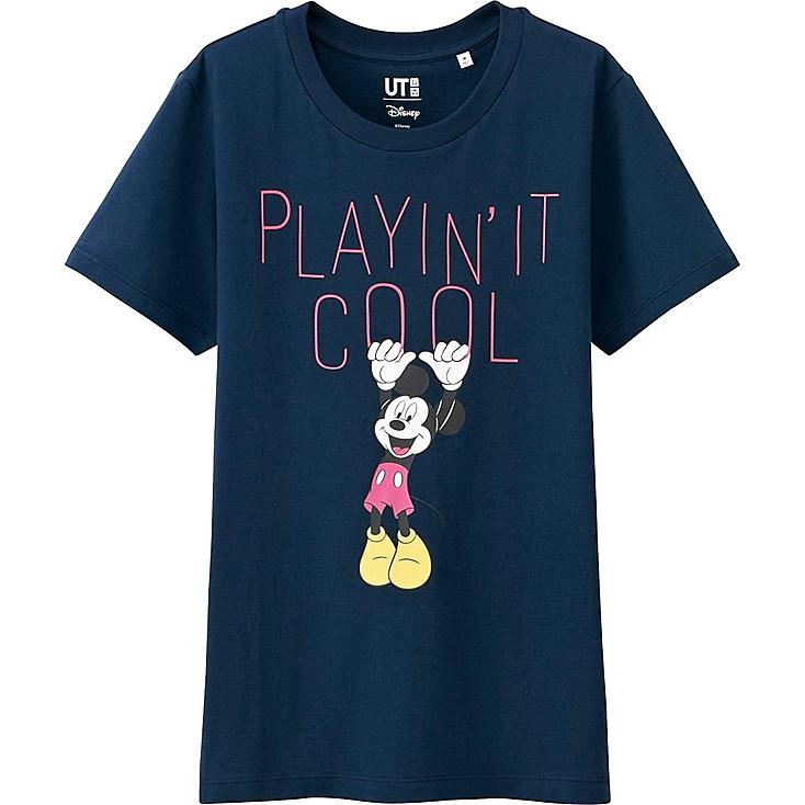 Women Disney Project Graphic T-Shirt, NAVY, large