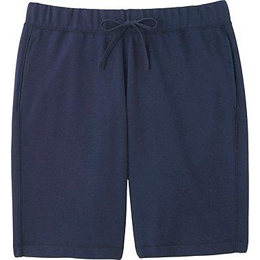 Mens Elastic Waist Shorts, NAVY, medium