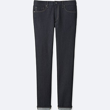 Men Selvedge Skinny Jeans, NAVY, medium