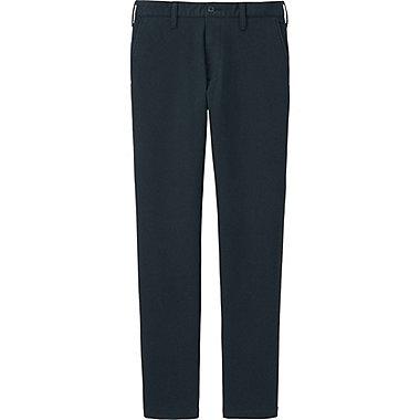 MEN BLOCKTECH SLIM FIT CHINO FLAT FRONT PANTS, NAVY, medium