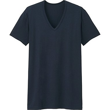 HEATTECH MEN V Neck T-Shirt (Short Sleeve)