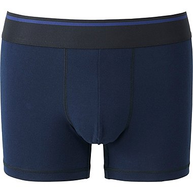 MEN SUPIMA COTTON BOXER BRIEFS (LOW RISE), NAVY, medium
