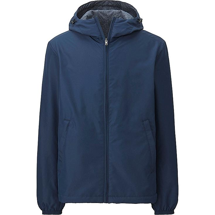 MEN REVERSIBLE PARKA, NAVY, large