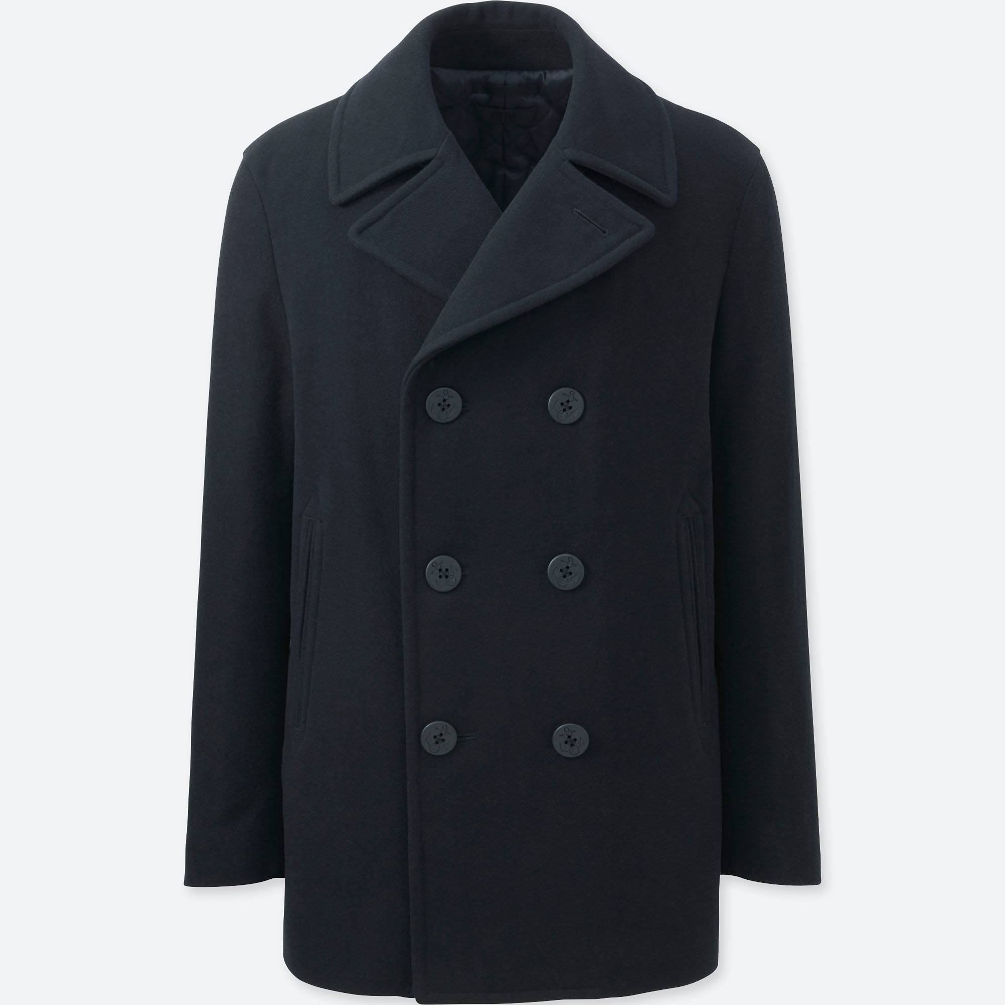 Mens Pea Coat Wool