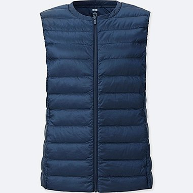 WOMEN ULTRA LIGHT DOWN COMPACT VEST, NAVY, medium