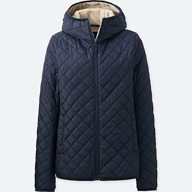 WOMEN PILE-LINED FLEECE PARKA, NAVY, medium