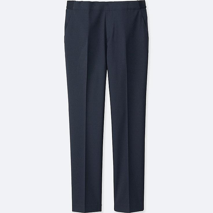 Women Smart Style Ankle Pants, NAVY, large