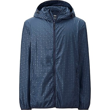 Mens Disney Project Packable Hooded Jacket, NAVY, medium
