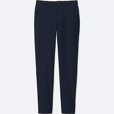 WOMEN BLOCKTECH WARM-LINED SLIM FIT PANTS, NAVY, medium