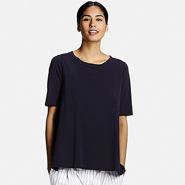 WOMEN Cotton Modal Long Short Sleeve T-Shirt