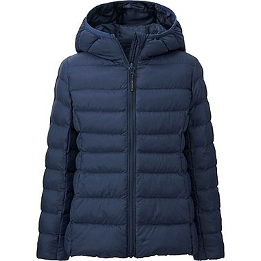 GIRLS LIGHT WARM PADDED PARKA, NAVY, medium