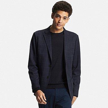 Mens Comfort Lightweight Sport Coat, NAVY, medium