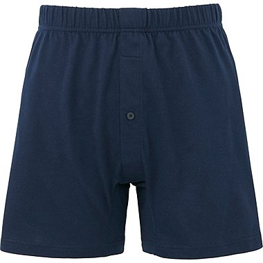 MEN Supima® COTTON KNIT BOXERS, NAVY, medium