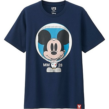 MEN MICKEY 100 SHORT SLEEVE GRAPHIC T-SHIRT, NAVY, medium