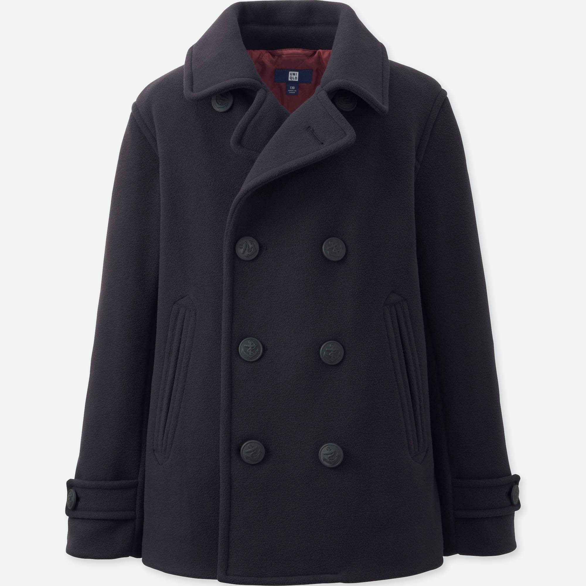 BOYS FLEECE PEA COAT | UNIQLO US